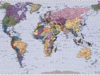 Fotomural 4-050 World Map