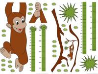 74101 - Wall Sticker Measuring Tape Monkey