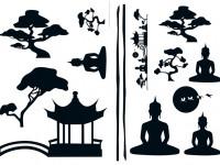 74103 - Wall Sticker Asian Feeling