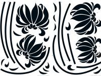 74110 - Wall Sticker Black Flowers