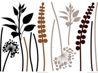 74111 - Wall Sticker Grasses Brown / Black
