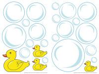 74301 - Wall Sticker Bublle Ducks