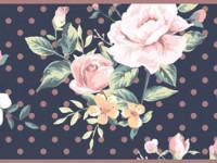 CEF004- Cenefa floral