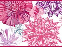 CEF007- Cenefa floral