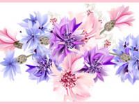 CEF012- Cenefa floral