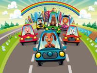 FT0154 - Fotomural Race on Cars