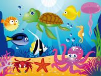 FT0157 - Fotomural Underwater Creatures
