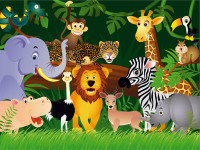 FT0158 - Fotomural Jungle Animals